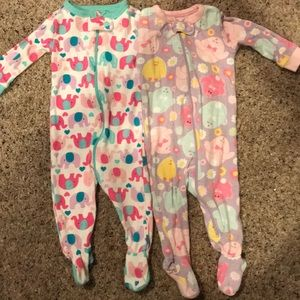 Infant Girls set of The Children's Place sleepers